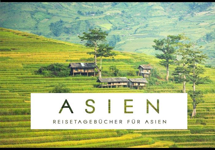 reisetagebuch zum selberschreiben asien