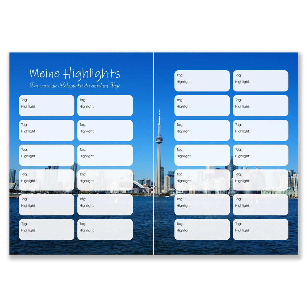 Reisetagebuch Kanada zum Selberschreiben CN Toronto