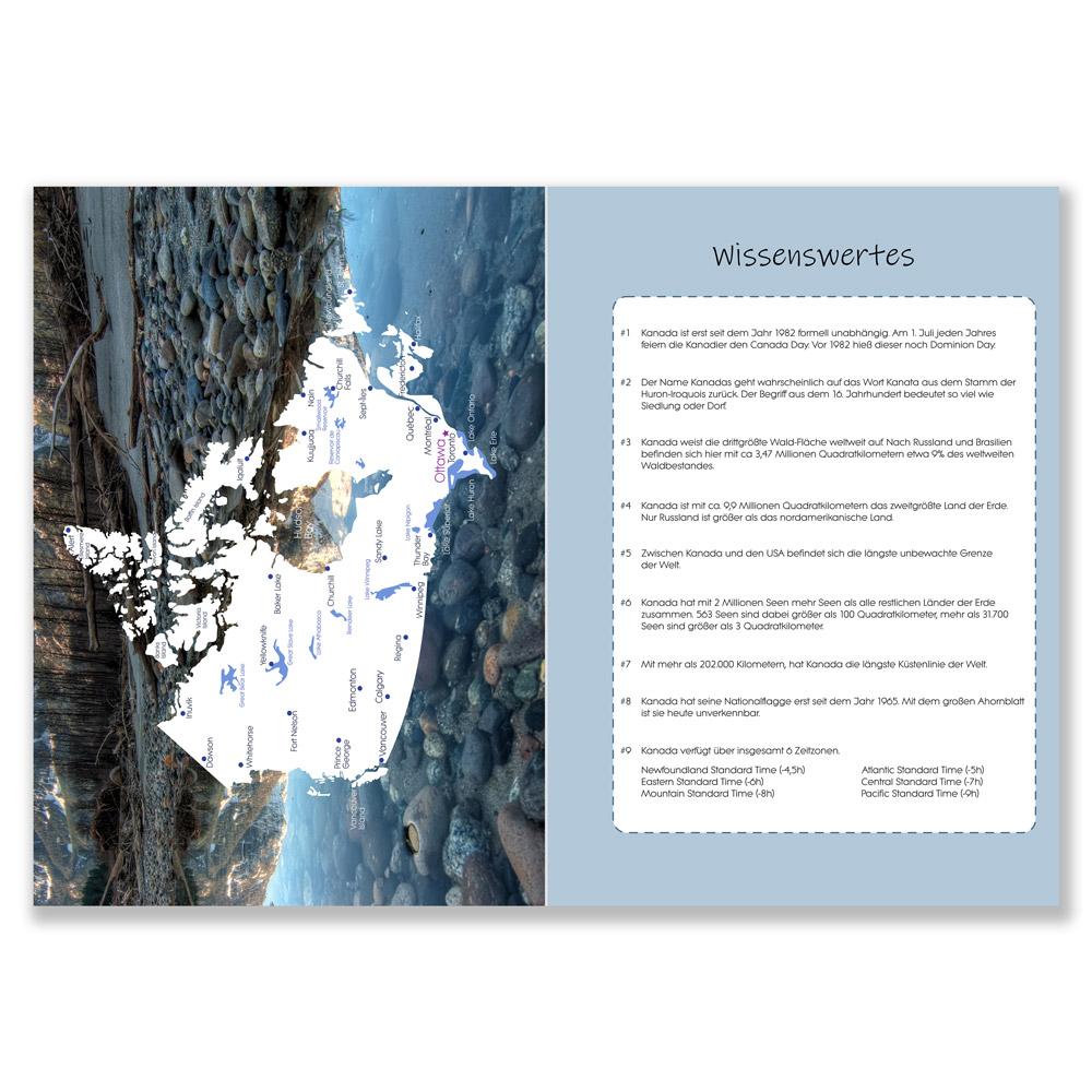 Reisetagebuch Kanada zum Selberschreiben karte