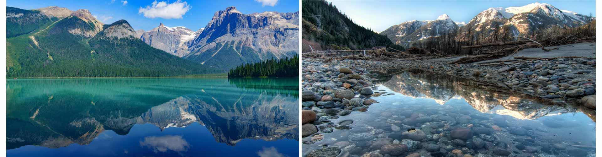 Reisetagebuch Kanada zum selberschreiben bergsee