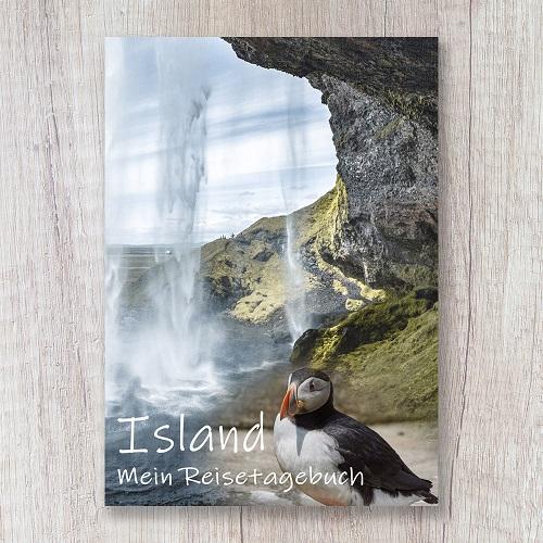 Reisetagebuch zum Selberschreiben Island Notizbuch Wasserfall