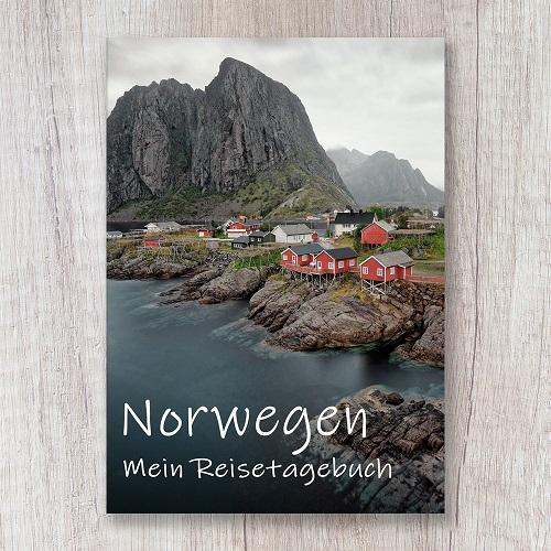 Reisetagebuch zum Selberschreiben Norwegen Europa Fjord Notizbuch