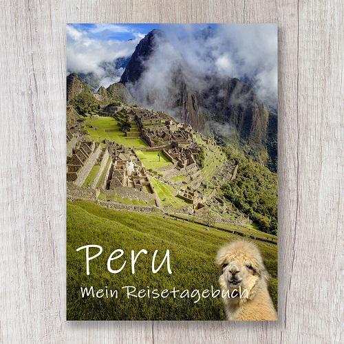 Reisetagebuch zum Selberschreiben Peru Südamerika Machu Picchu Alpaka