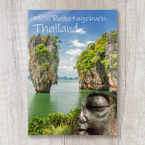 Reisetagebuch zum Selberschreiben Thailand Asien James Bond Felsen