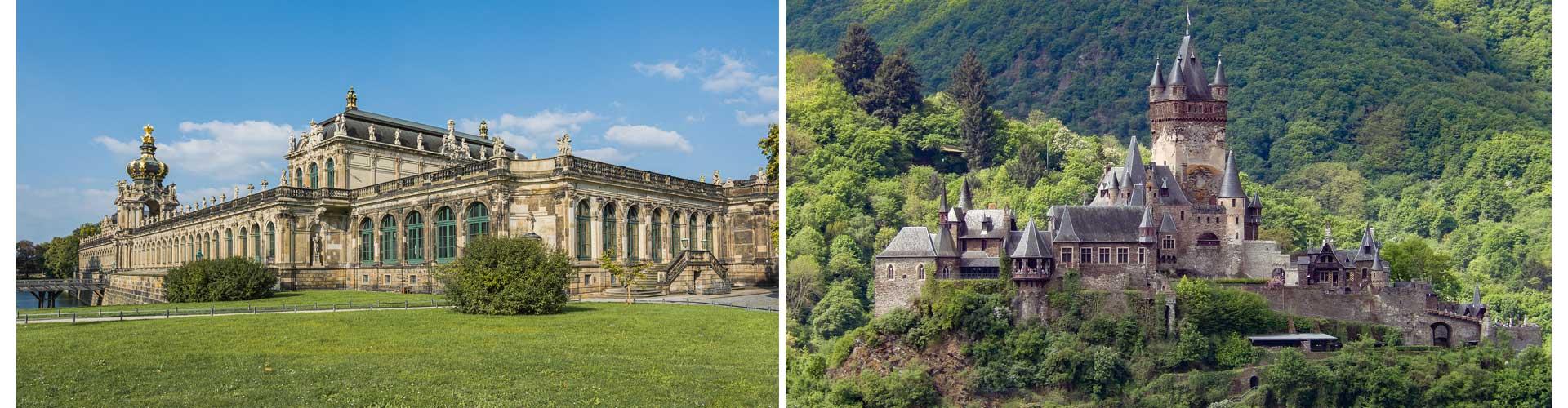 Doppelbild reisetagebuch deutschland selberschreiben mosel dresden zwinger schloss barock