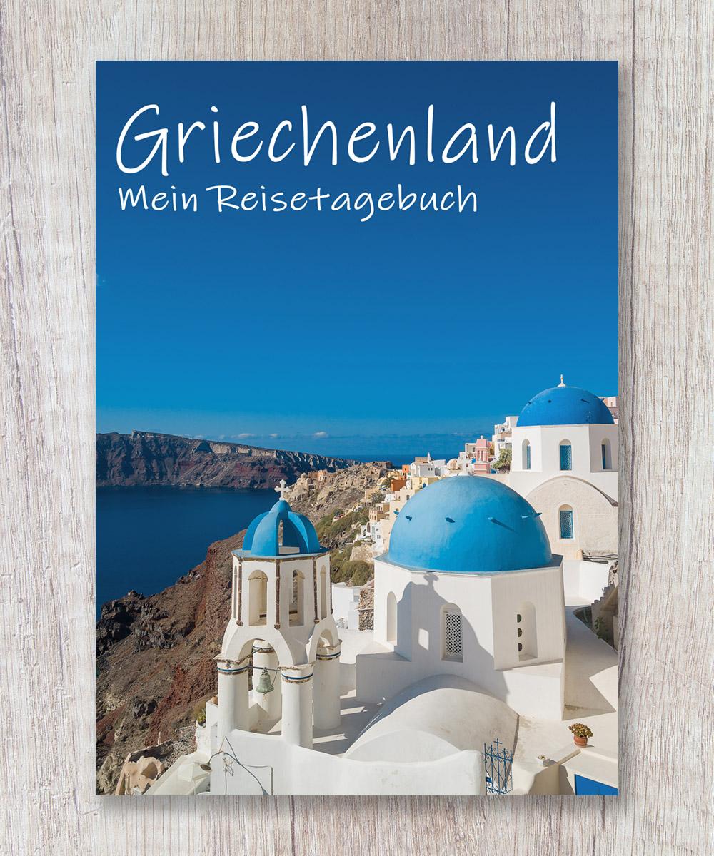 Cover Reisetagebuch Griechenland Santorini Calmondo