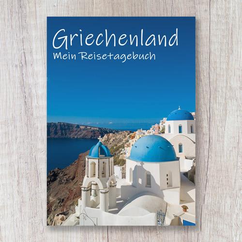 Cover Reisetagebuch Griechenland Europa Santorini