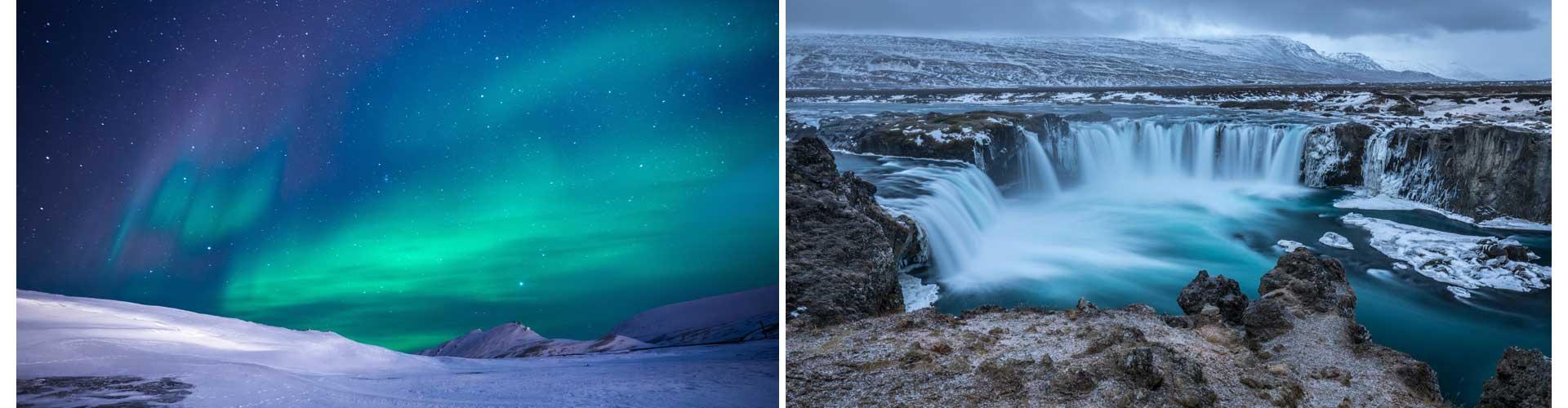 Island Reisetagebuch nordlicht wasserfall
